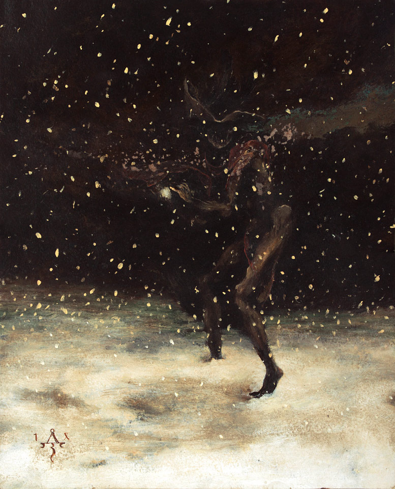 Wraith Kneading a Snowball / Allegory of Winter
